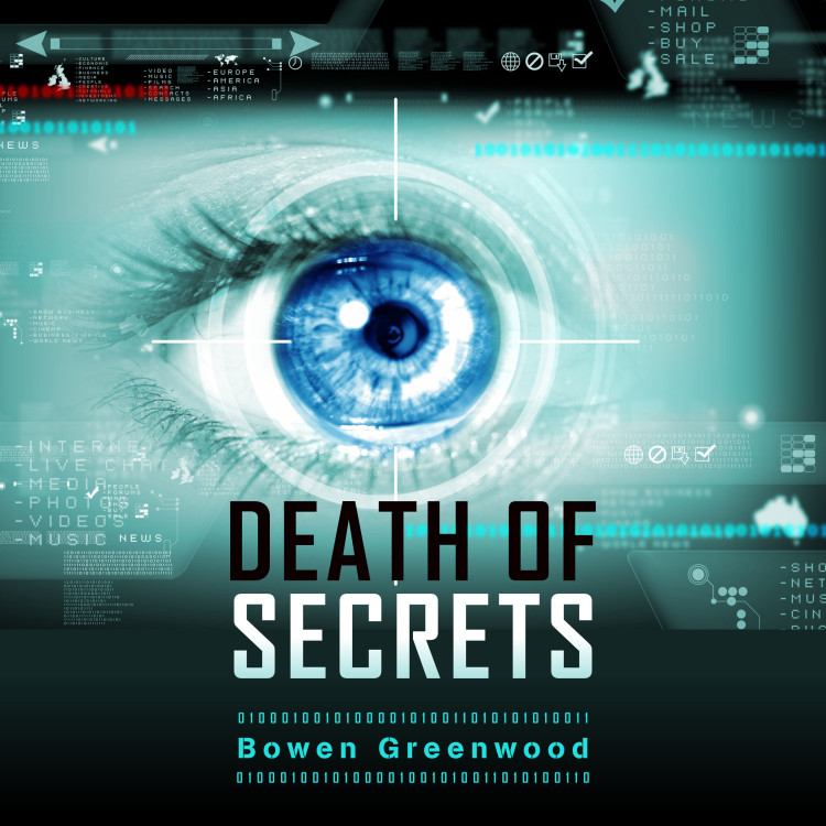 The cover of the Death of Secrets audiobook version